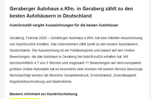 Foto von Geraberger Autohaus e.Kfm.