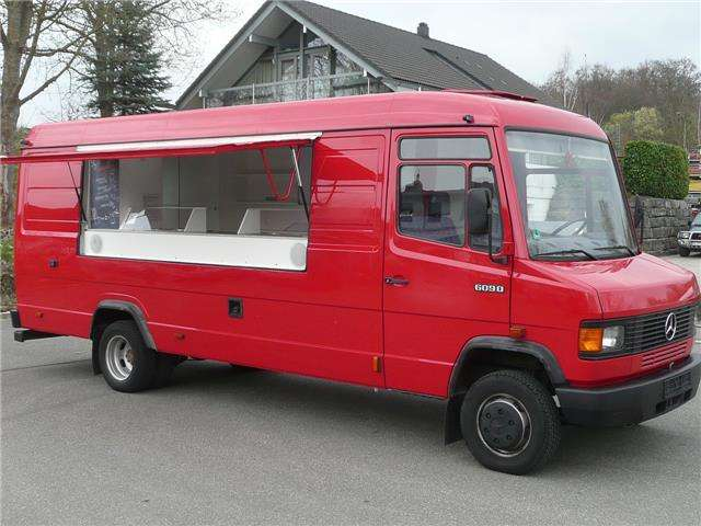 Mercedes-Benz Vario 611 D hoch+lang * Food Truck * grüne Plakette