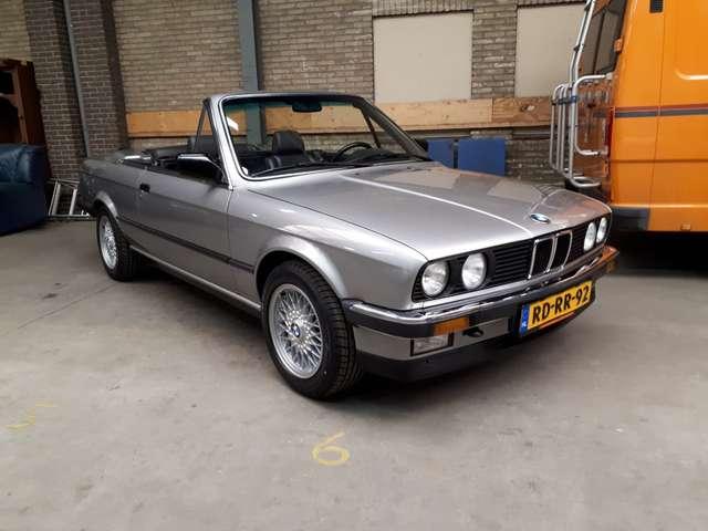 bmw 325 i-cabrio-e30-1986-zilver-sound-system-zwart-leer zilver