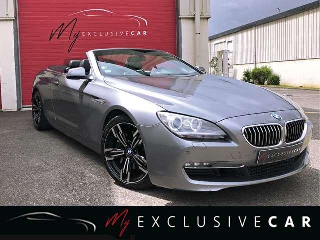 bmw 640 d-cabriolet-313-ch-luxe-revise-pneus-neufs gris
