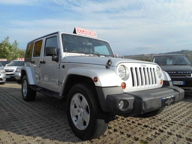 jeep wrangler unlimited-2-8-crd-sahara-uniproprietario-gancio plateado