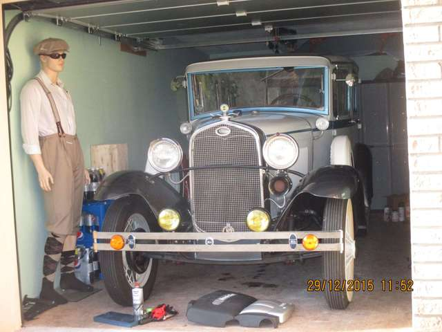 oldtimer ford modell-a weiss