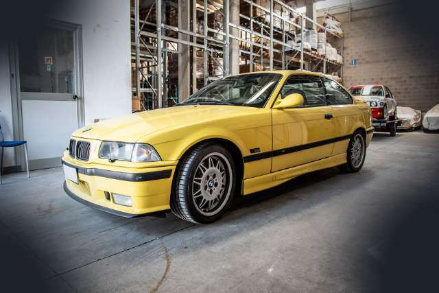 bmw m3 cat-coupe giallo