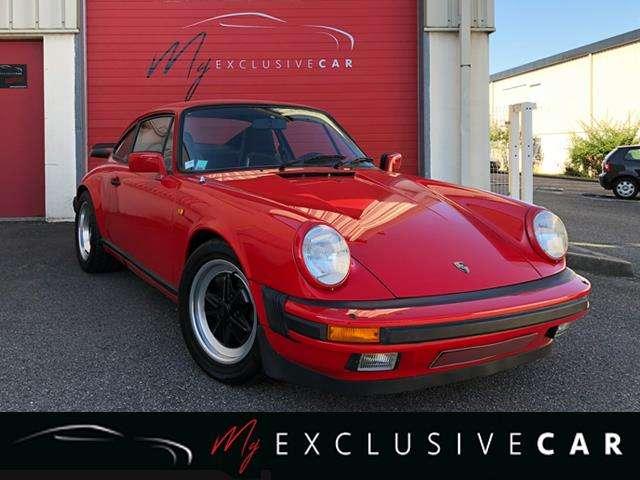 porsche 911 carrera-3-2-matching-numbers-etat-parfait rouge