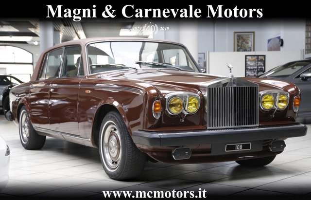 rolls-royce silver-shadow 2-walnut-bronze-special-paint-for-collectors brown