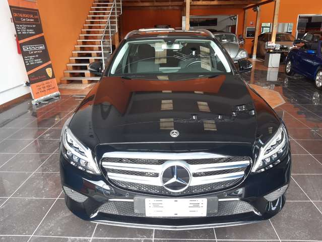 mercedes-benz c-180 sport-9g-tronic-17-comand-led-kamera-privacy-us nero