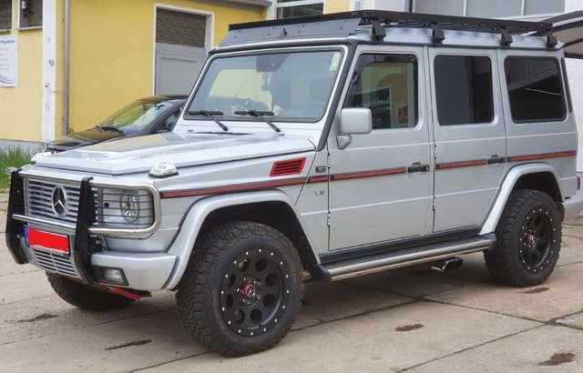 mercedes-benz g-400 cdi-automatik-stationwagen-lang silber