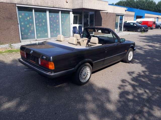 bmw 325 i-cabrio-e30-1986-diamantzwart-beige-leder-airco zwart