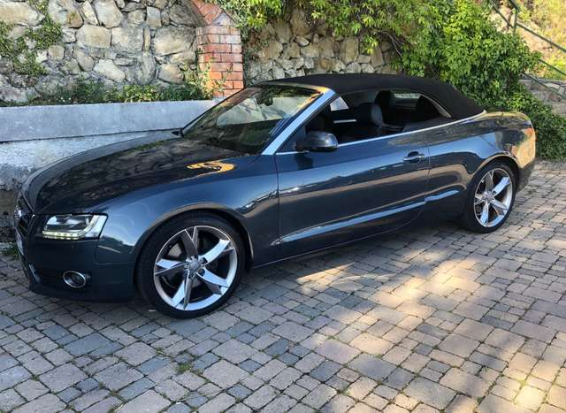 audi a5 cabriolet-v6-tdi-240-quattro-ambition-luxe-stronic gris