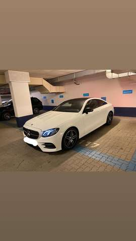 mercedes-benz e-300 coupe-9g-tronic-amg-line weiss