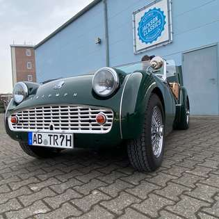 Triumph TR3 Vollrestauratuion Echtleder Grün