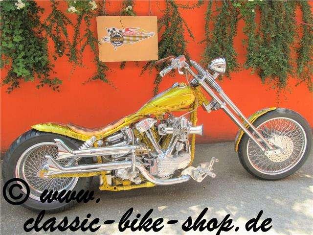 harley-davidson knucklehead high-end-showbike gold