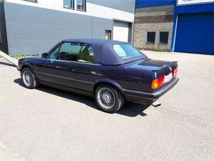 BMW 325 i cabrio E30 (1989) dark blue beige leather 152000