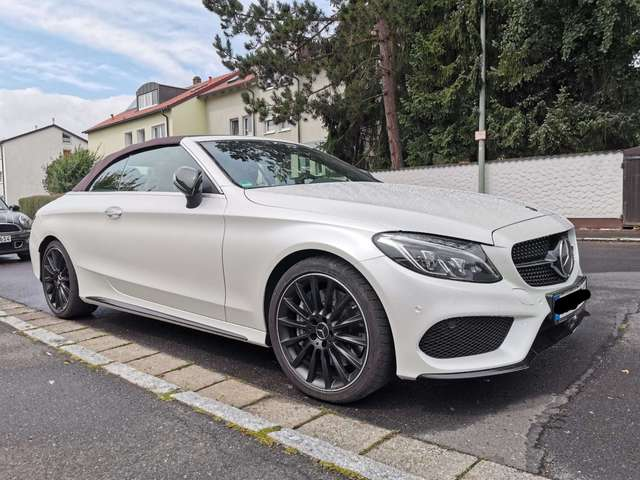 mercedes-benz c-43-amg klasse-cabrio-4matic-9g-tronic-night-edition weiss