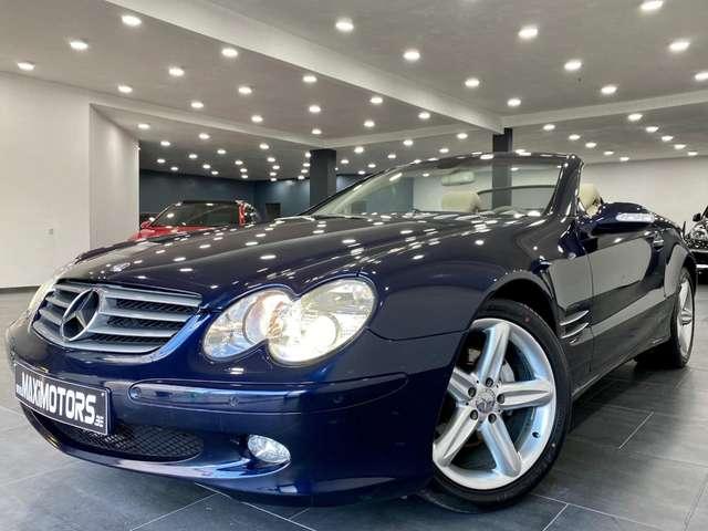mercedes-benz sl-350 etat-neuf-67407km-voiture-belge-full-carpass bleu