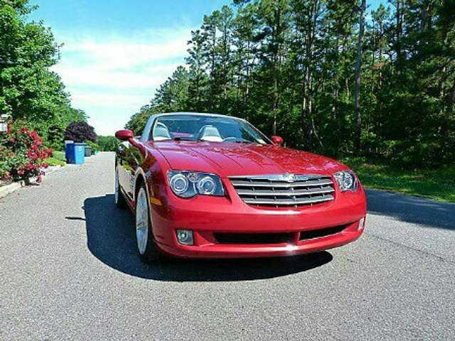 chrysler crossfire roadster-automatik rot