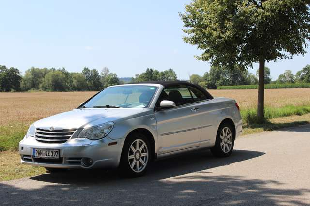 chrysler sebring cabrio-2-0-crd-limited-soft-top silber