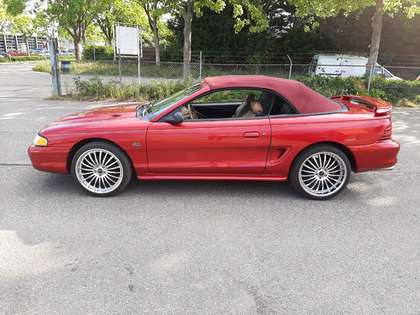 Ford Mustang GT cabrio 5.0 HO (1994) red 240 hp beige leather