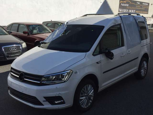 volkswagen caddy 2-0-tdi-xenon-led-alu-pdc-tempomat weiss