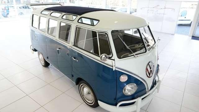 volkswagen t1 samba-21-windows blauw