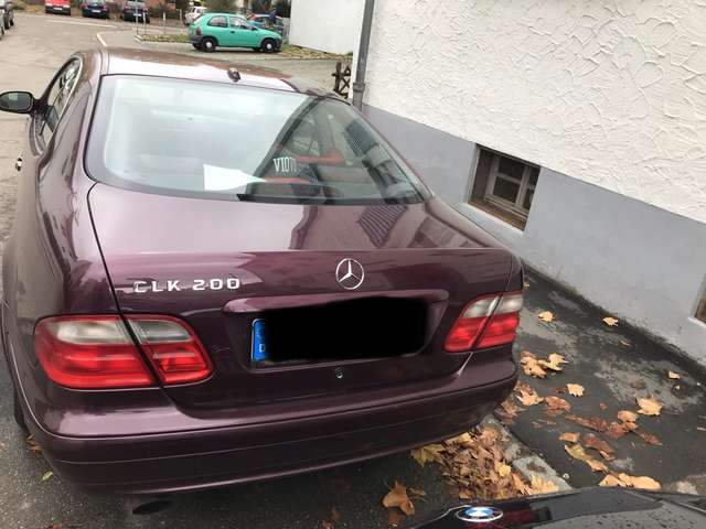 mercedes-benz clk-200 coupe-elegance rot