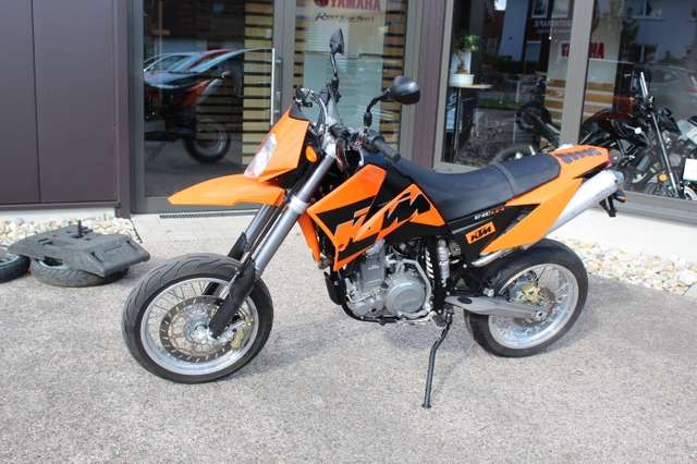 ktm 640-lc-4 supermoto-wenig-km orange
