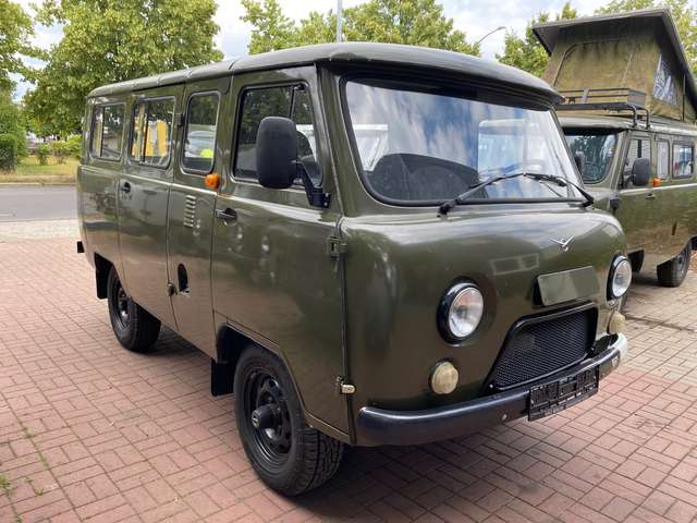 uaz buchanka 2206-allrad-4x4-offroad-euro-6-deut-zul-lpg-sofort green