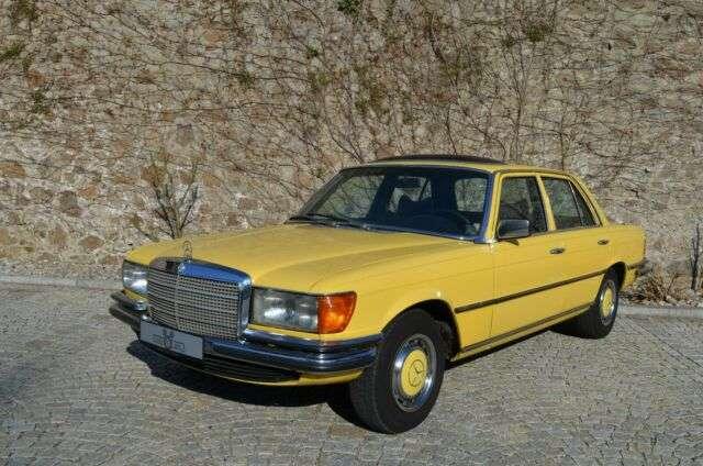 mercedes-benz 280 se-w116-aus-1-hand gelb