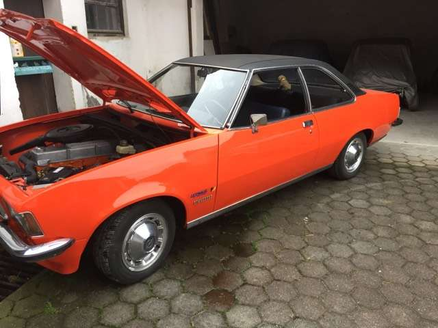 oldtimer opel opel-commodore-b-coupe-2-5 orange