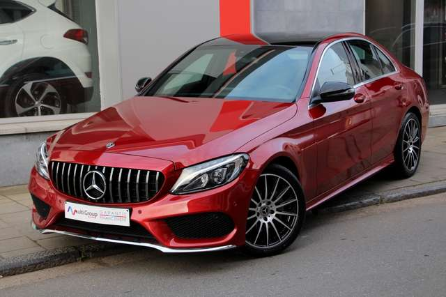 mercedes-benz c-180 d-amg-full-gps-led-cuir-ja18-parking-aut rouge