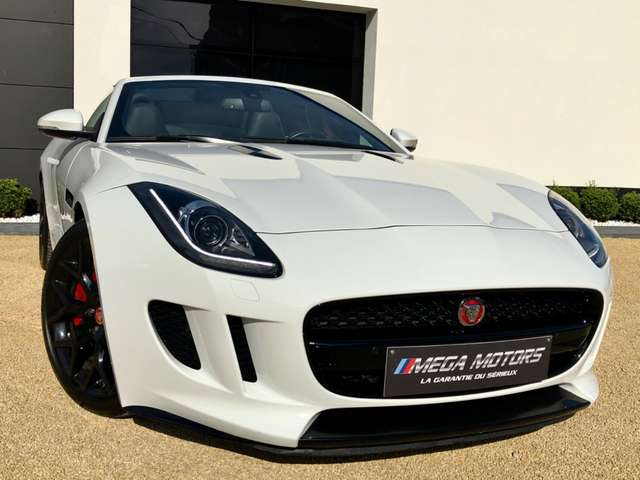 jaguar f-type 3-0-v6-turbo-340cv-supercharged-1er-main-etat-neuf blanc