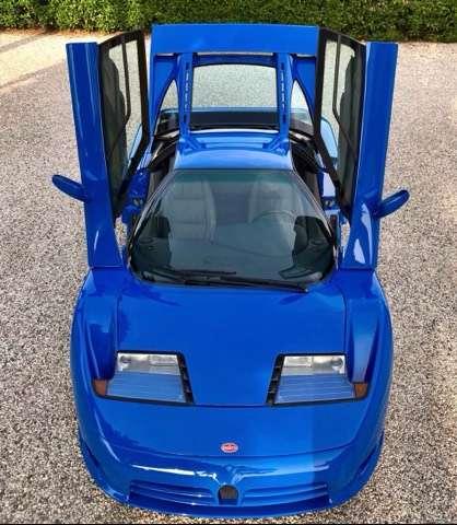 bugatti eb-110 gt blue