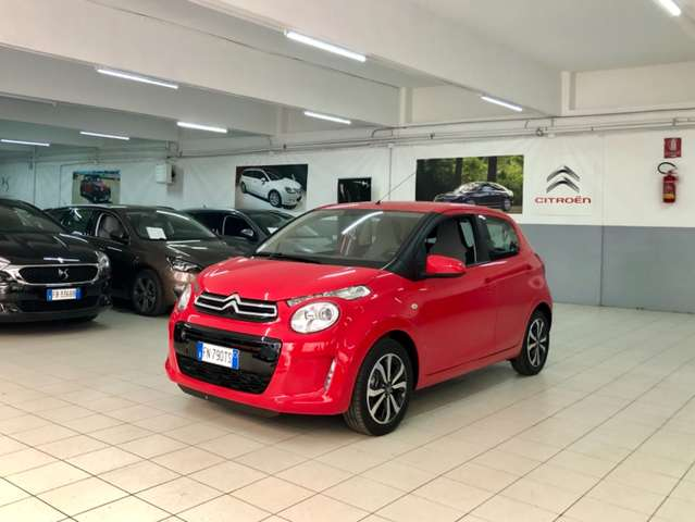 citroen c1 5-porte-vti-68cv-shine-touch-pad-led-bluetooth-usb rot