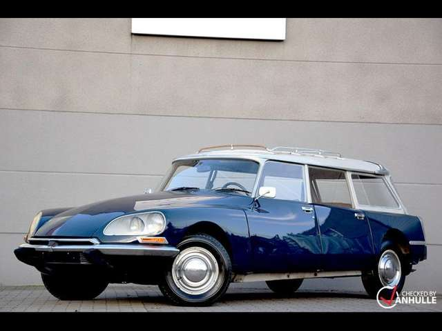 citroen ds break blauw