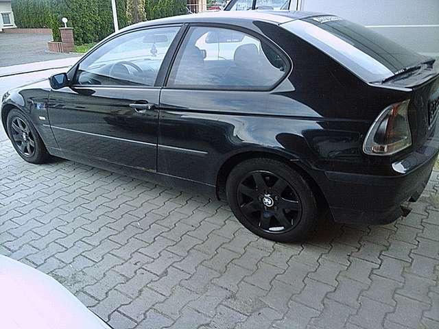 bmw 316 1-8i-compact-e46-met-alu-klima-efh-o-tuev schwarz