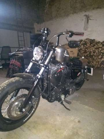 harley-davidson sportster-forty-eight gris