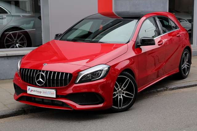 mercedes-benz a-180 d-amg-garantie-1an-full-gps-camera-led-cuir rouge