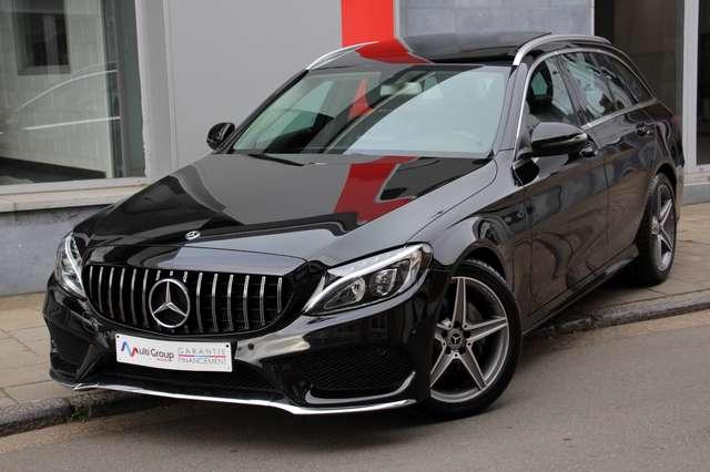 mercedes-benz c-200 d-amg-full-toit-ouvr-gps-led-ja18-parking-aut noir