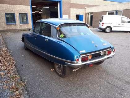 Citroen DS 23 Pallas carb (1975) bleu Delta, cuir brun tabac!