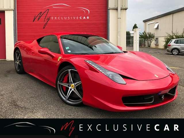 ferrari 458 italia-volant-led-pack-carbone-histo-complet rouge