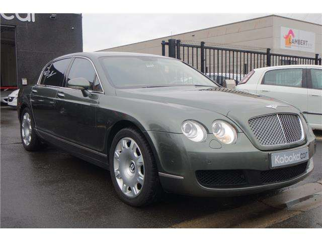 bentley continental limousine-full-option-carnet-ok-etat-neuf green