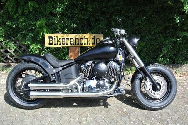 yamaha xvs-650 classic-fat-black-bobber-umbau-9-500km-1-hand schwarz