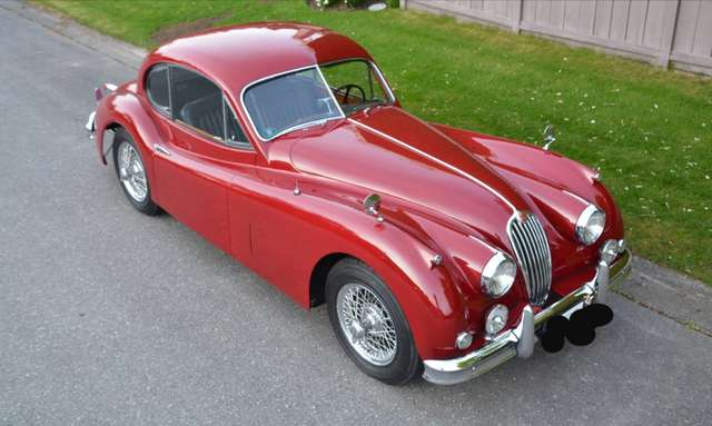 jaguar xk coupe-xk140-top-zustand rot