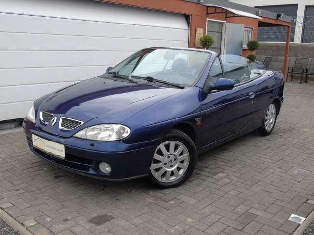 renault megane cabriolet-1-6-l-klima-1-hand-winterreifen-hu-neu blau