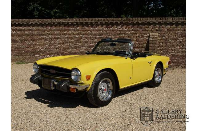 triumph tr6 matching-numbers-unique-original-mimosa-colour-f yellow