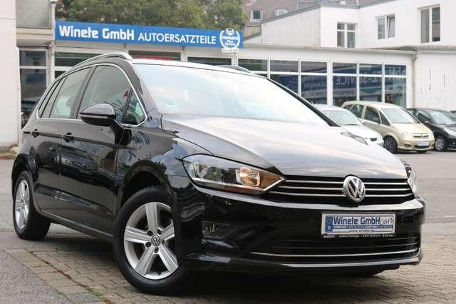 volkswagen golf-sportsvan 1-6-tdi-bluemotio-euro6-comfortline-1hand-navi-uvm schwarz