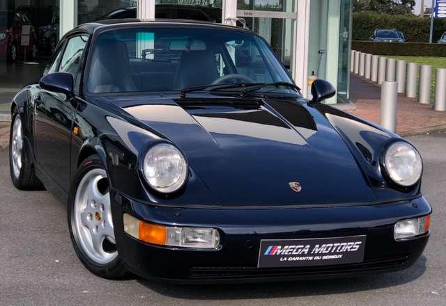 porsche 964 3-6i-250cv-carrera4-100-belge-full-carnet blu-azzurro