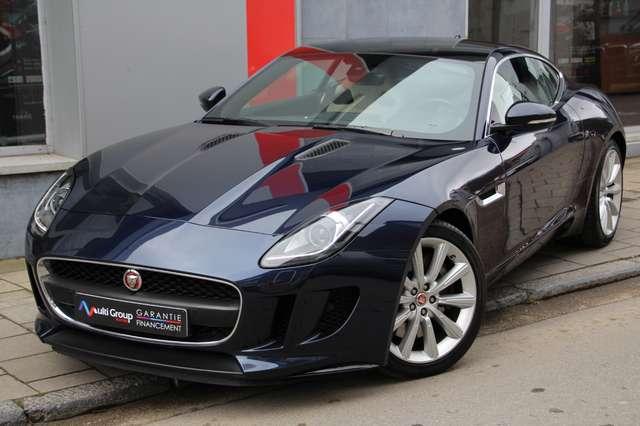 jaguar f-type 3-0-v6-coupe-garantie-1an-full-toit-panoramique bleu
