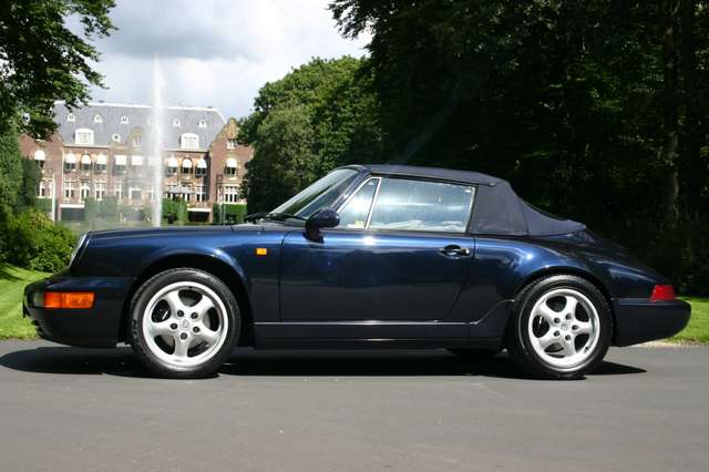 porsche 911 964-carrera-2-cabriolet-manual blauw