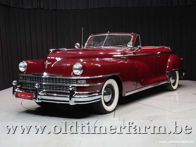oldtimer chrysler new-yorker-convertible-49 czerwony